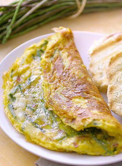 Frittata di asparagi selvatici e tartuto