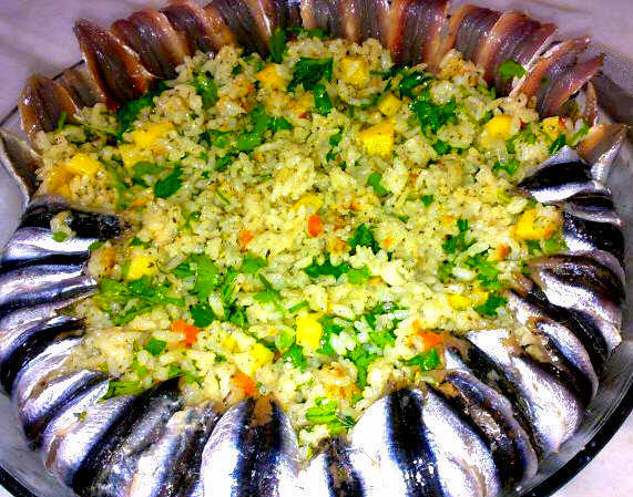 Hamsi Pilavi - Acciughe con riso pilav