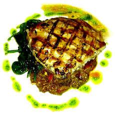 pesce spada alla griglia con melanzane